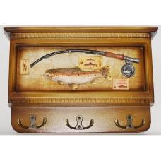 Ключница из дерева Рыбак
