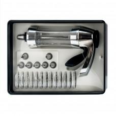 Кондитерский шприц с 21 насадкой стеклянный