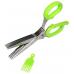Кухонные ножницы для нарезки зелени 5 лезвий