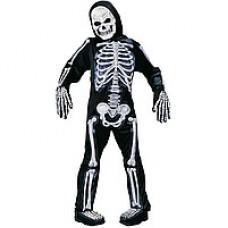 Костюм скелета детский (светится)