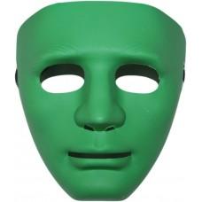 Маска Лицо Человека зеленая