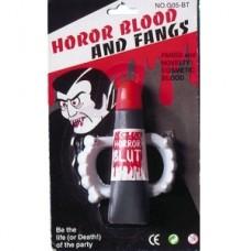 Челюсть вампира с тюбиком крови