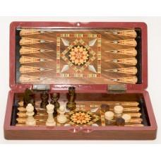 Шахматы шашки нарды 3 в 1