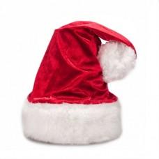 Новогодняя шапка велюровая