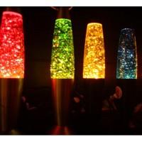 Глиттер лампа с блесками 31 см (лава лампа)