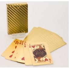 Игральные пластиковые карты (золото)
