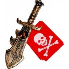 Детский пиратский набор (бандана и кинжал)