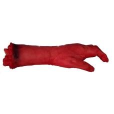 Рука окровавленная - декорация на Хэллоуин