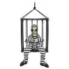 Заключенный скелет в клетке - декорация на Хэллоуин