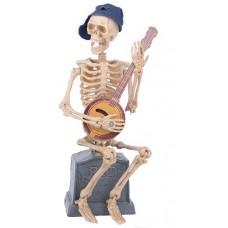 Скелет музыкант - декорация для Хэллоуин