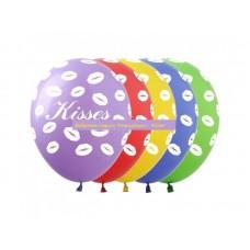 """Воздушные шары Поцелуи """"Kisses"""" 30 см"""
