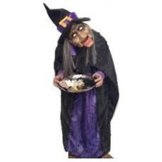 Баба Яга попрошайка - декорация на Хэллоуин