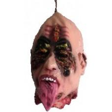 Подвесная голова с языком - декорация на Хэллоуин